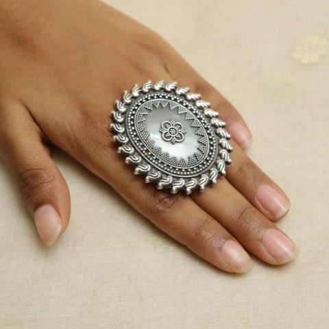 Adjustable Silver Ring  Design 13