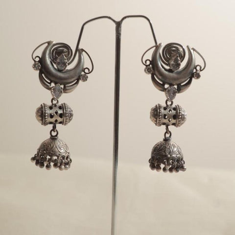 Sterling Silver Earrings with Stones Design 16