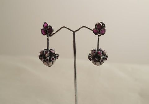Sterling Silver Earrings with Stones Design 22