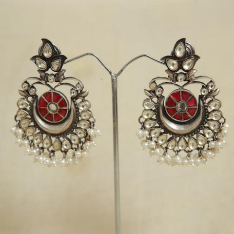 Sterling Silver Earrings  With Stones Design 139