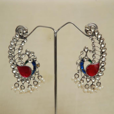 Sterling Silver Earrings  With Stones Design 141