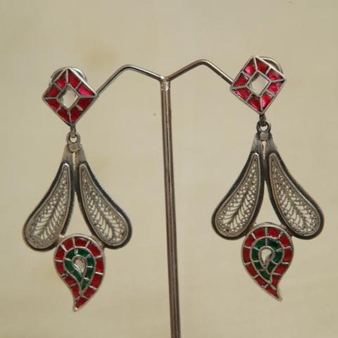 Sterling Silver Earrings  With Stones Design 142