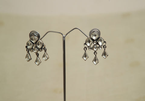 Sterling Silver Earrings  With Stones Design 146