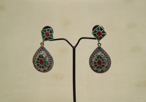 Sterling Silver Earrings  With Stones Design 147
