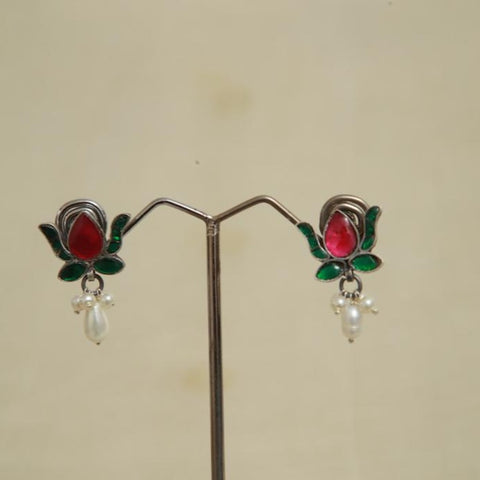 Sterling Silver Earrings  With Stones Design 151