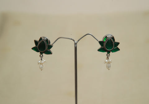 Sterling Silver Earrings  With Stones Design 152