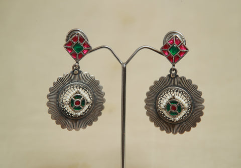 Sterling Silver Earrings  With Stones Design 148