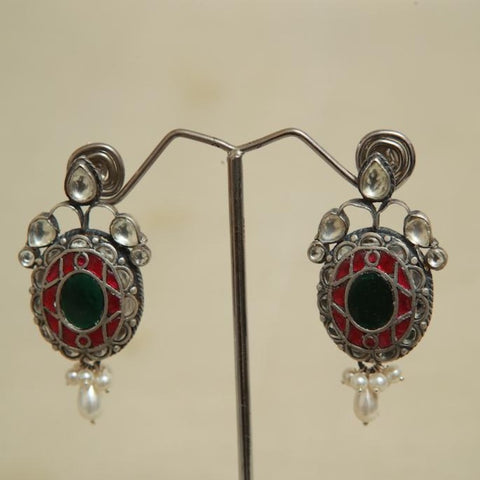 Sterling Silver Earrings  With Stones Design 149