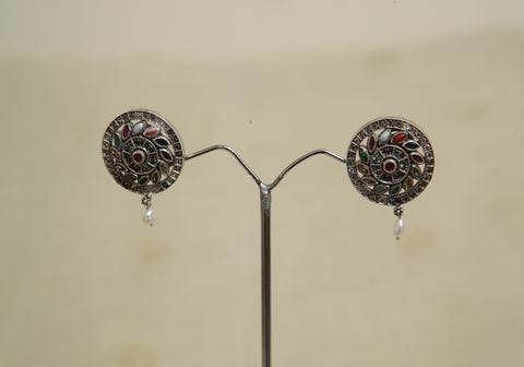 Sterling Silver Earrings  With Stones Design 150