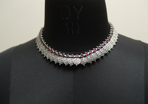 Sterling Silver Necklace with Stones Design 22