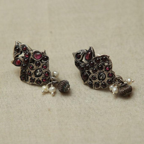 Sterling Silver Earrings  With Stones Design 170