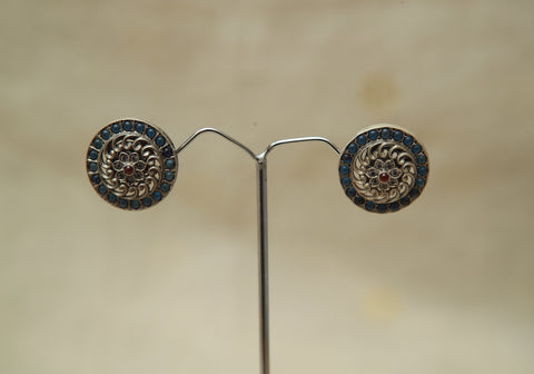 Sterling Silver Earrings  With Stones Design 155