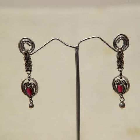 Sterling Silver Earrings  With Stones Design 180