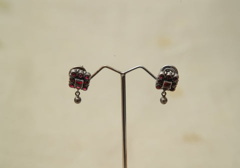 Sterling Silver Earrings  With Stones Design 178