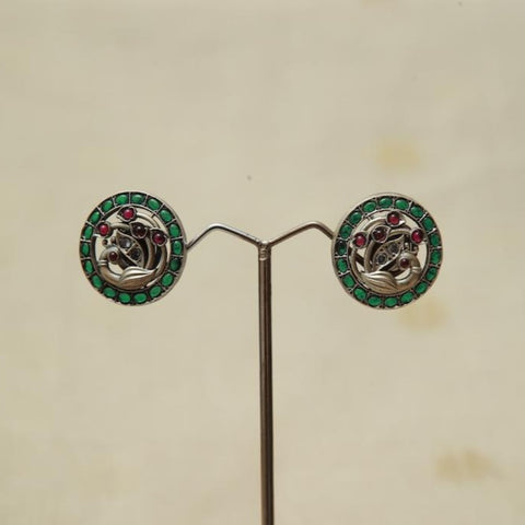 Sterling Silver Earrings  With Stones Design 156