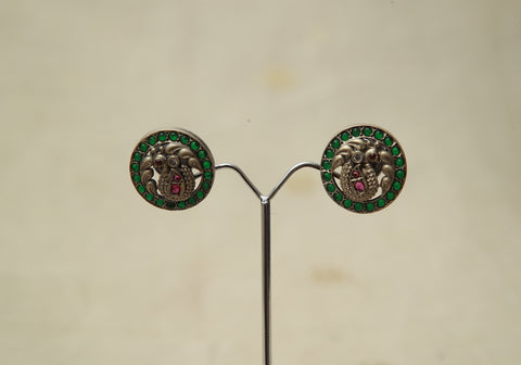 Sterling Silver Earrings  With Stones Design 157