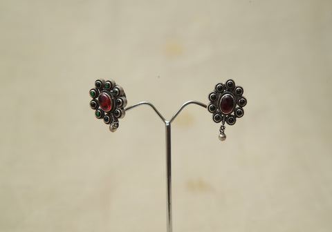 Sterling Silver Earrings  With Stones Design 167