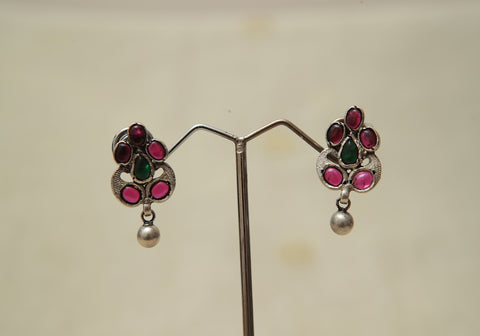 Sterling Silver Earrings  With Stones Design 175
