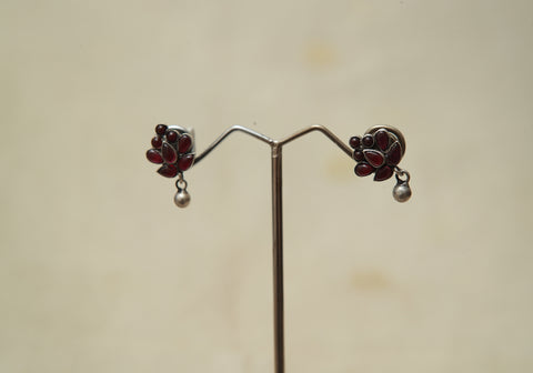 Sterling Silver Earrings  With Stones Design 177