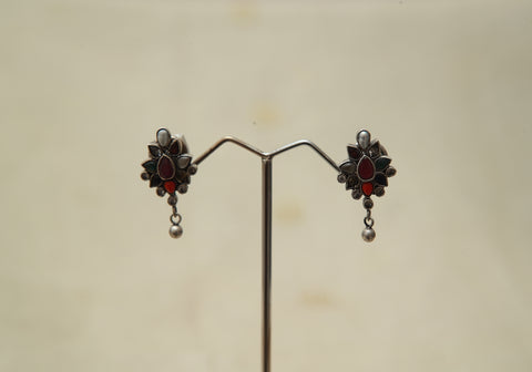 Sterling Silver Earrings  With Stones Design 174
