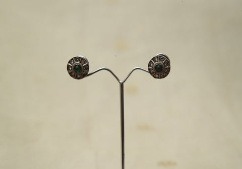 Sterling Silver Earrings  With Stones Design 168