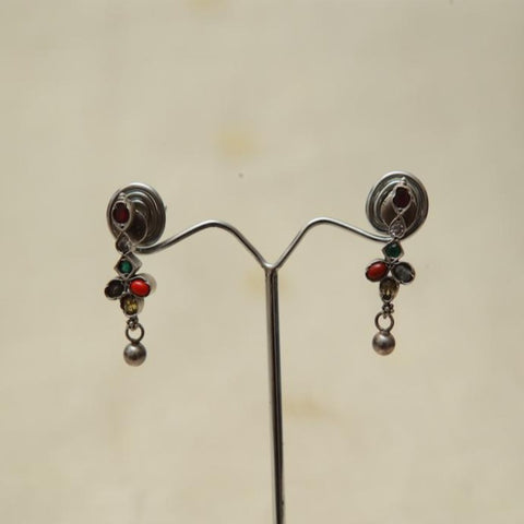 Sterling Silver Earrings  With Stones Design 166