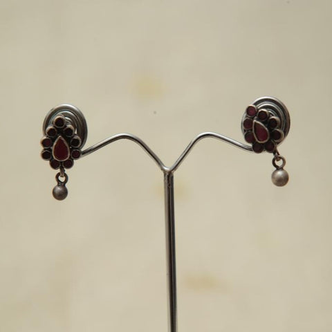 Sterling Silver Earrings  With Stones Design 181