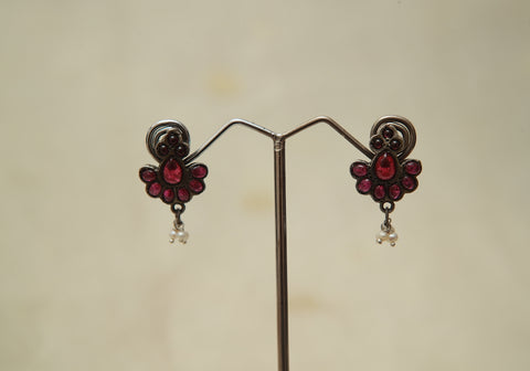 Sterling Silver Earrings  With Stones Design 133