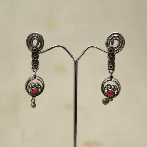 Sterling Silver Earrings  With Stones Design 132