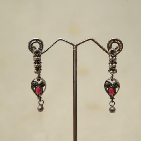 Sterling Silver Earrings  With Stones Design 179