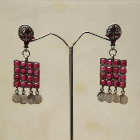 Sterling Silver Earrings  With Stones Design 135