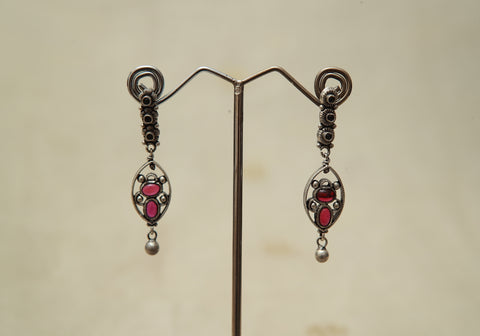 Sterling Silver Earrings  With Stones Design 131