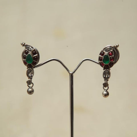 Sterling Silver Earrings  With Stones Design 154