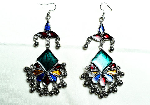 Tribal Afghan Earrings Design 178