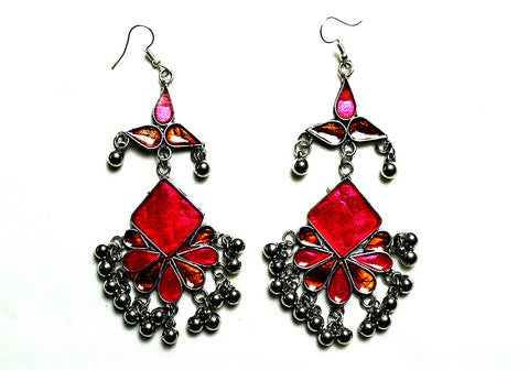 Tribal Afghan Earrings Design 182