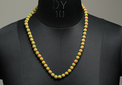 Handloom Cotton Necklace with beads design 23