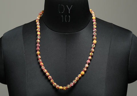 Handloom Cotton Necklace with beads design 25