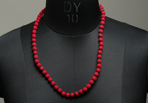 Handloom Cotton Necklace with beads design 27