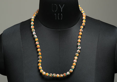 Handloom Cotton Necklace with beads design 30