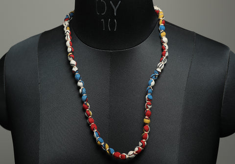 Handloom Cotton Necklace with beads design 32