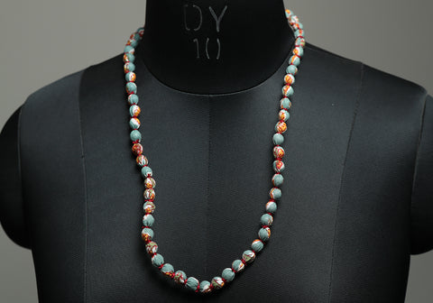 Handloom Cotton Necklace with beads design 34