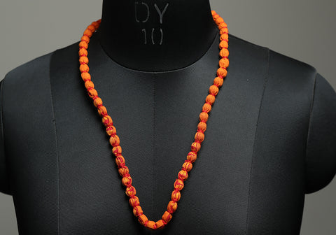 Handloom Cotton Necklace with beads design 35