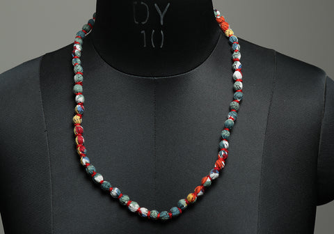 Handloom Cotton Necklace with beads design 38