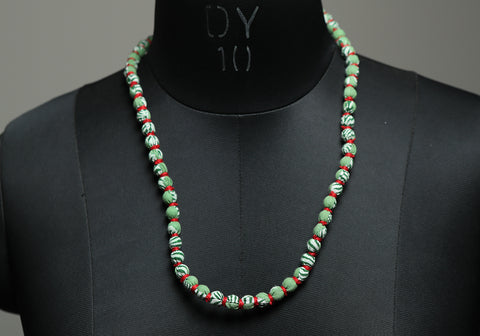 Handloom Cotton Necklace with beads design 39