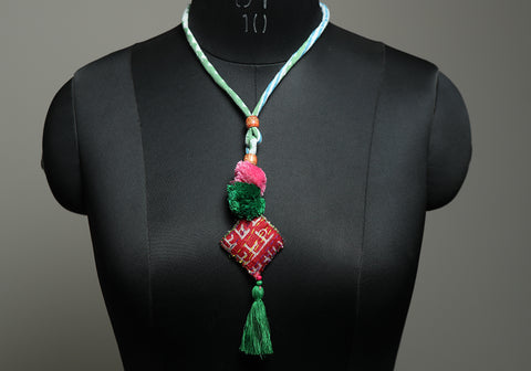 Upcycled Vintage Kutch Work Necklace Design 170