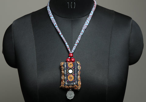 Upcycled Vintage Kutch Work Necklace Design 176