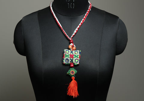 Upcycled Vintage Kutch Work Necklace Design 178