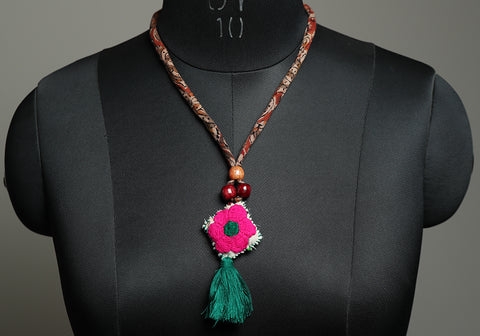Upcycled Vintage Kutch Work Necklace Design 180