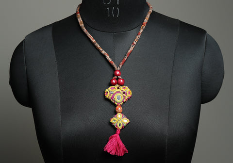 Upcycled Vintage Kutch Work Necklace Design 181