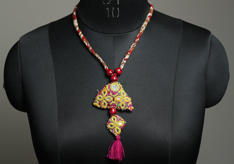 Upcycled Vintage Kutch Work Necklace Design 183